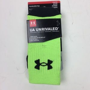 Under Armour Kids Boys Large 1-4 Crew Socks